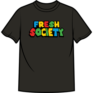 "Fresh Society ""Super Fresh"" Black Tee"