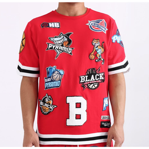 Black Pyramid Red Toss Jersey