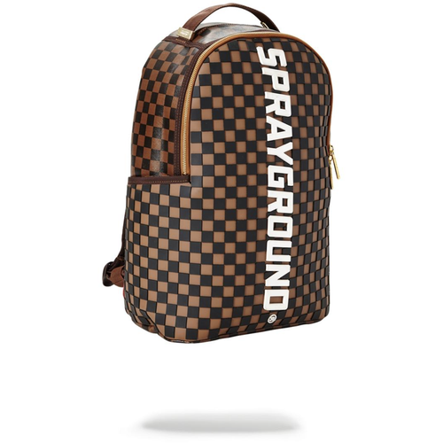 Sprayground Rubber Checkered Logo Backpack