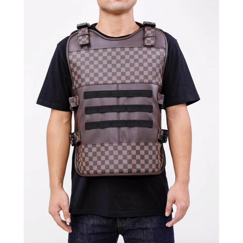 Hudson Brown LUX Checkered Body Vest