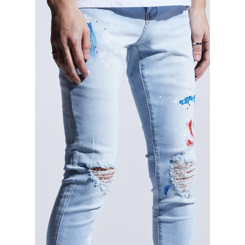 Karter Elsie Light Blue Painted Jeans w/Tears (KTROL-108)