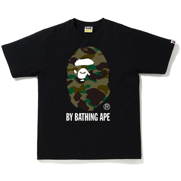 BAPE 1st Camo By Bathing Ape Tee - Black/Green Camo