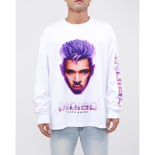 Black Pyramid Indigo Portrait Long Sleeve (Y2162333-WHT)