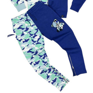 Civilized Teddy Bear Royal Blue Camo Joggers ONLY