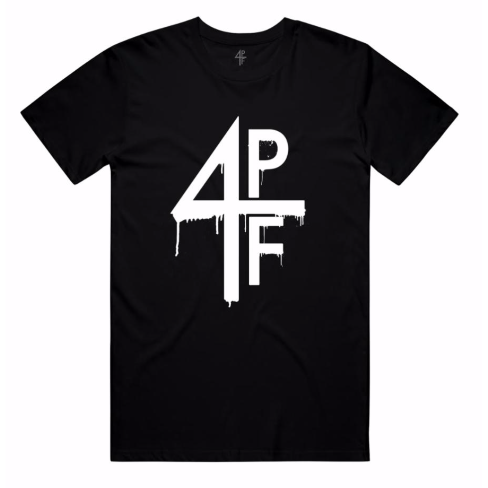 4PF Four Pockets Full Drip Tee Black