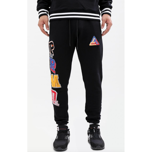 Black Pyramid Varsity Collection Black Joggers
