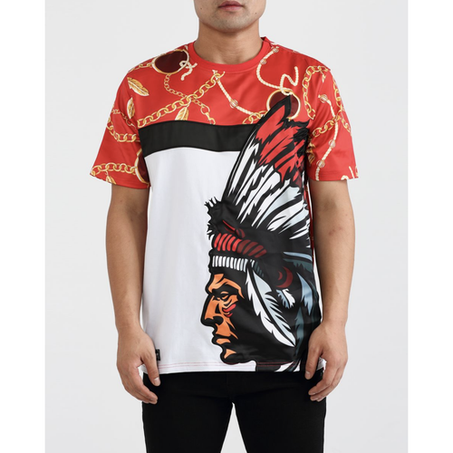 Hudson Chief Gold Feather Red Shirt
