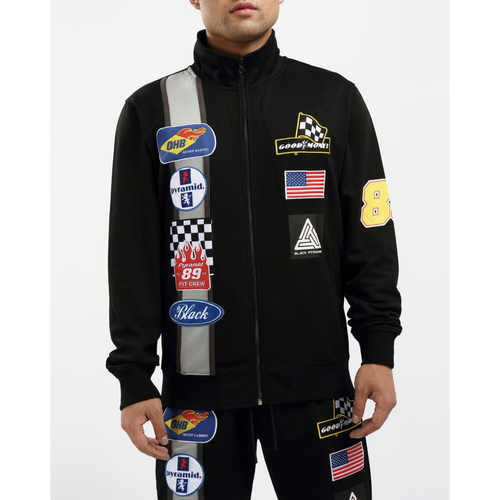 Black Pyramid Grease Monkey Black Track Jacket (Y6162126-BLK)