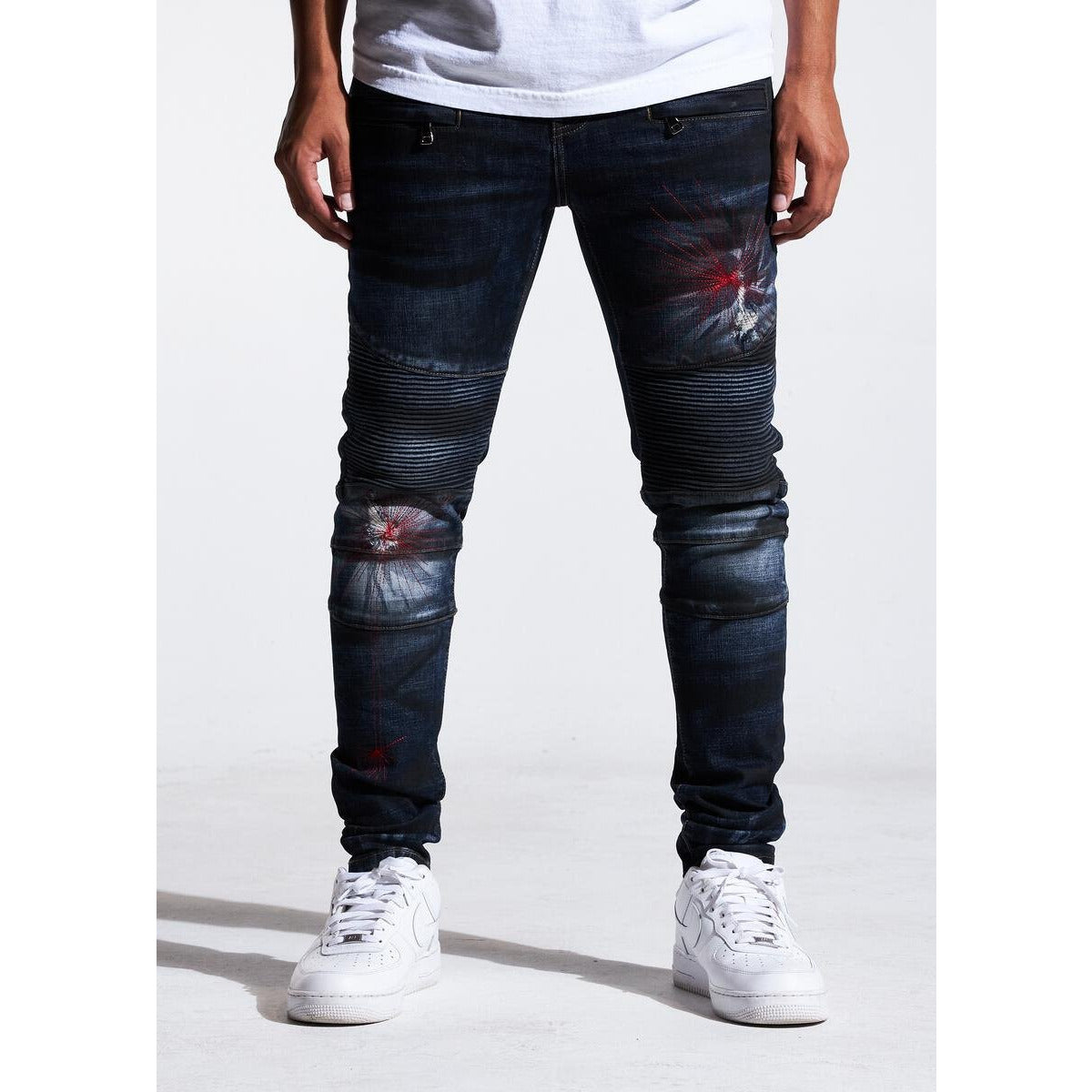 Crysp Denim Twilight Skywalker Denim Biker Jeans (CRYSPSP121-118)