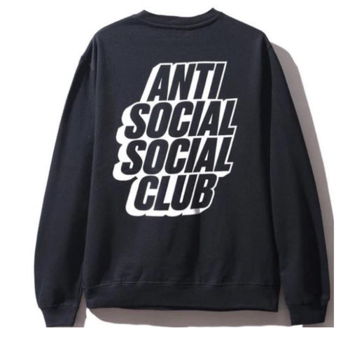 Anti Social Social Club Blocked Logo Crewneck - Black