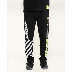"Hudson ""Icons Hazard"" Black Joggers"