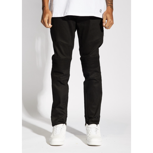 Crysp Denim Jet Black Pacific Denim Biker Jeans (CRYSU219-107)