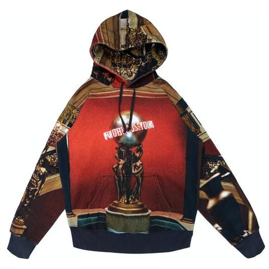 Supreme Scarface the World is Yours Hooded Sweatshirt - Multicolor