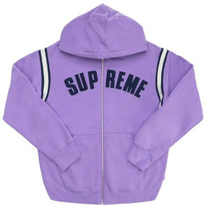 Supreme Jet Sleeve Zip Up Hooded Sweatshirt - Violet