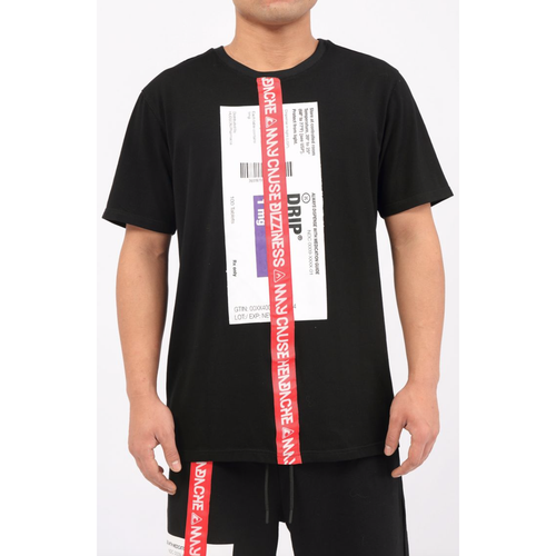 Hudson Prescription Drip Black Tee