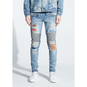 Embellish Light Indigo Hamlin Biker Denim Jeans (EMBFALL120-101)