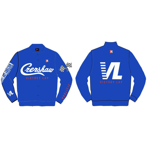 Headgear Crenshaw Victory Lap Nipsey Hustle Royal Blue Satin Jacket (HGA007-SJKT-06)