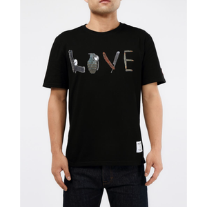 "Hudson ""Weapons Or Love"" Black Tee (H1052838-BLK)"