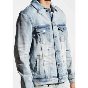 Embellish Patchwork Light Indigo Wash Culver Denim Jacket