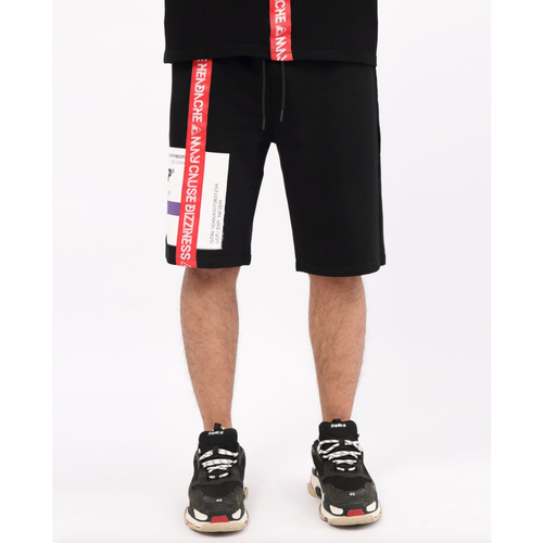 Hudson Prescription Drip Black Shorts