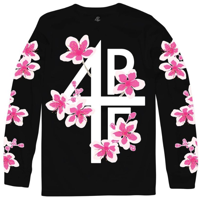 4PF Flower Black Long Sleeve