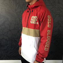 Load image into Gallery viewer, SAVS Gold Blooded Chiefs Anorak Red/White Jacket