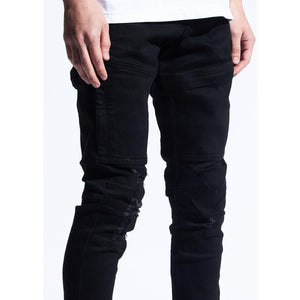 Crysp Denim Montana 2.0 Black Jeans w/Tears (CRYSPQS-103)