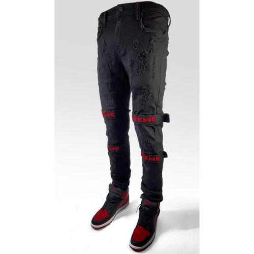 PREME Black Denim with Red Strap (PR-WB-453)