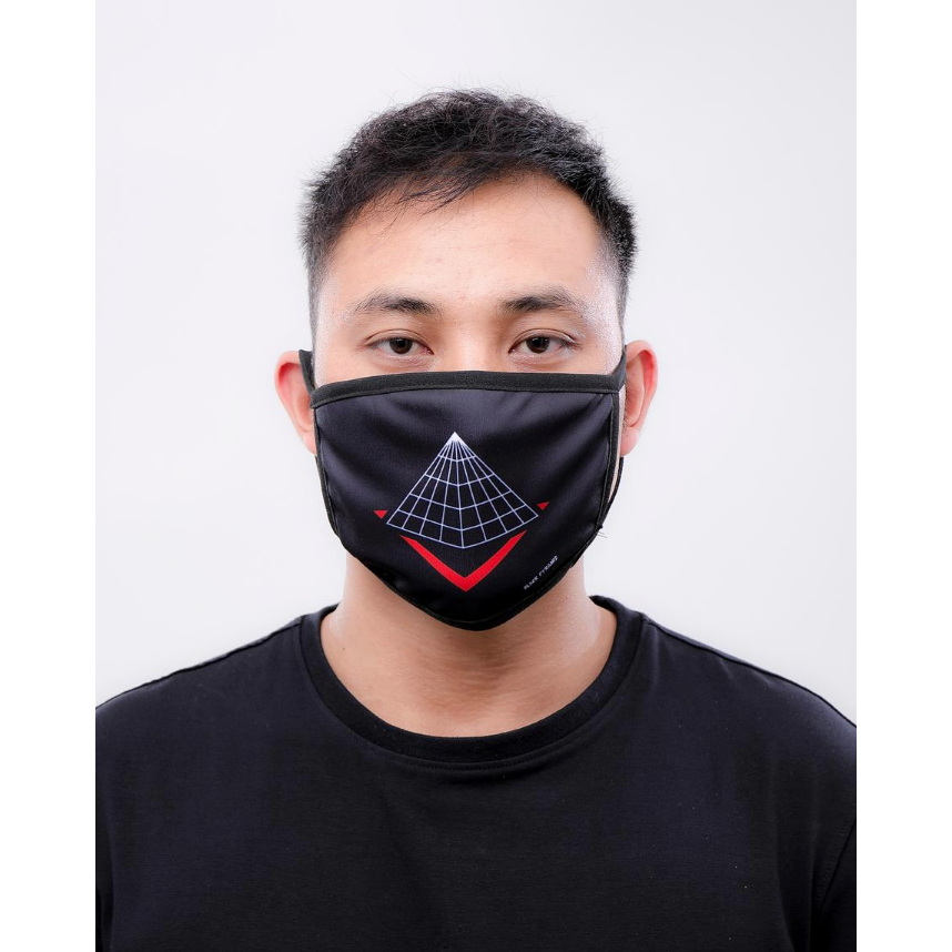 Black Pyramid- Pyramid Logo Face Mask Black