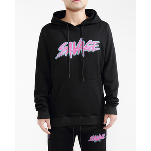 "Hudson ""Savage"" Slash Logo Black Hoodie"