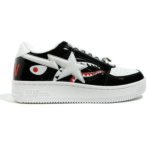 A Bathing Ape Bapesta Low - Color Block Shark Black