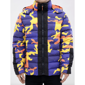 Roku Crazy Camo Orange Bubble Jacket