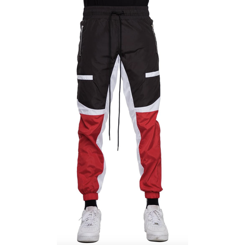 EPTM Color Block Windbreaker Track Pants Black/Red