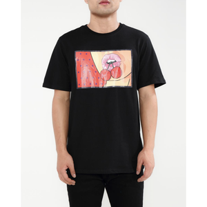 "Hudson ""Cherries"" Black Tee"