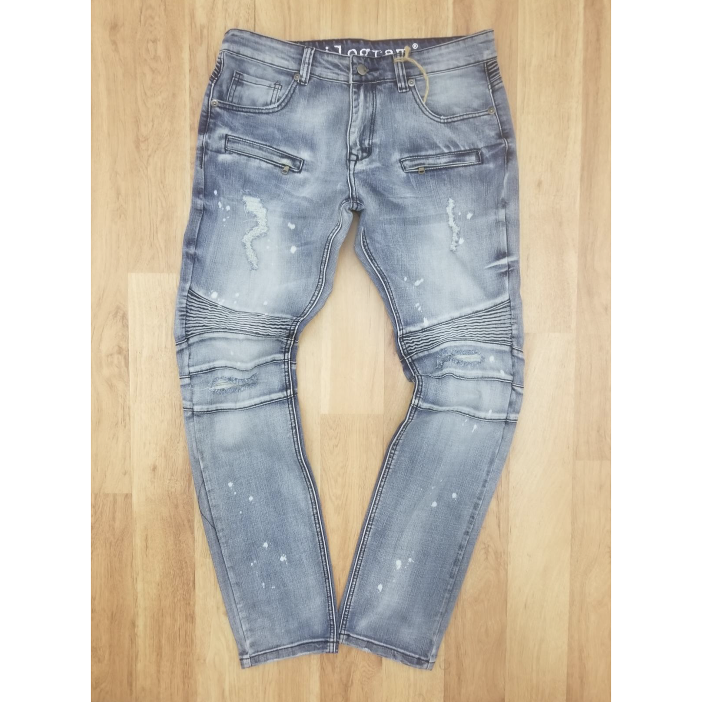 Kilogram Light Blue Moto Jeans