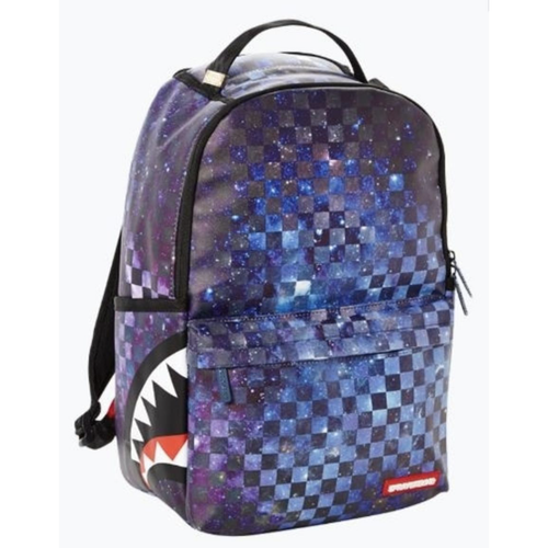 Sprayground Galaxy Checkered Side Shark Cargo Backpack