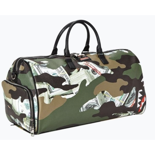 Sprayground Camo Money Shark Duffle