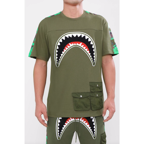 Hudson Utility Sharks Mouth Shirt Olive Green (H1052930)
