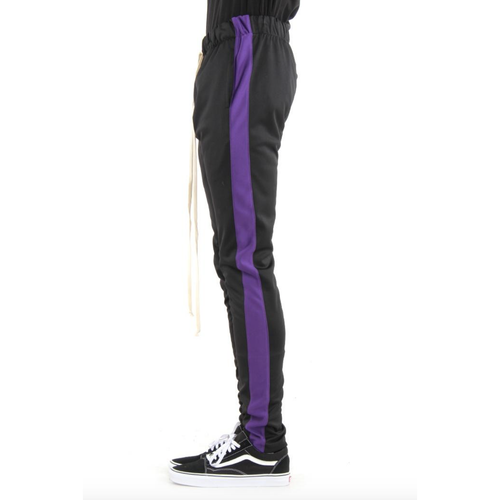 EPTM Black Track Pants w/Purple Stripe