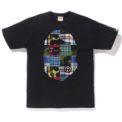 BAPE Patchwork Big Ape Head Tee - Black