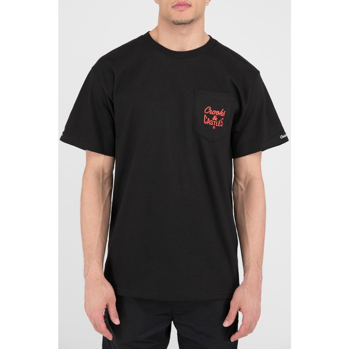 Crooks & Castles Core Pocket Tee Black