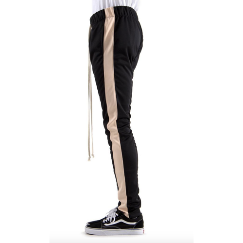 EPTM Black Track Pants w/Peach Stripe (w/Pull Strings)