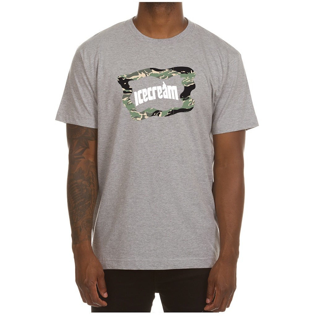 Ice Cream Camo SS Heather Grey Tee (401-8201)