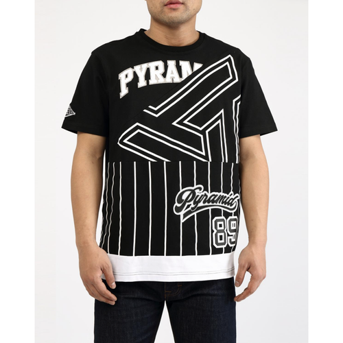 Black Pyramid Bball MashUp Black Tee