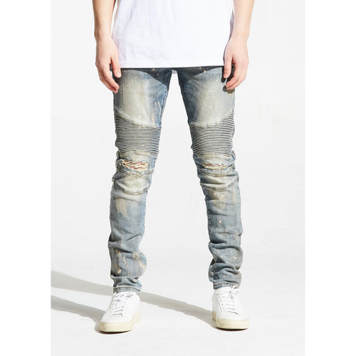 Embellish Williamson Lt, Blue Biker Denim