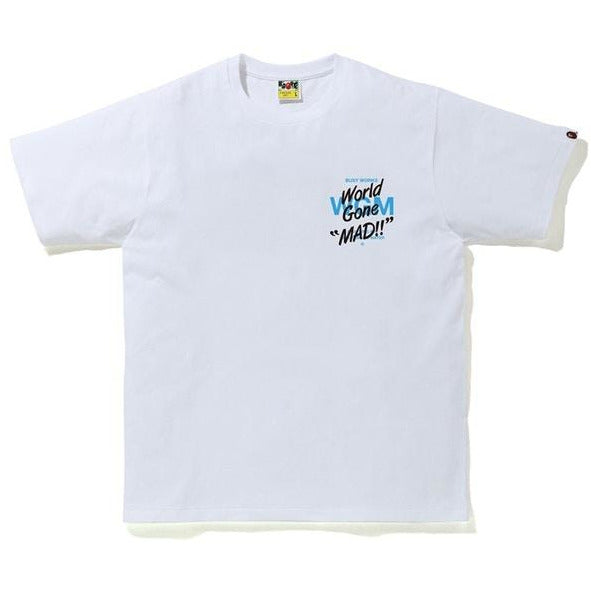 Bape ABC Camo WGM Ape Head  Tee - White/Blue