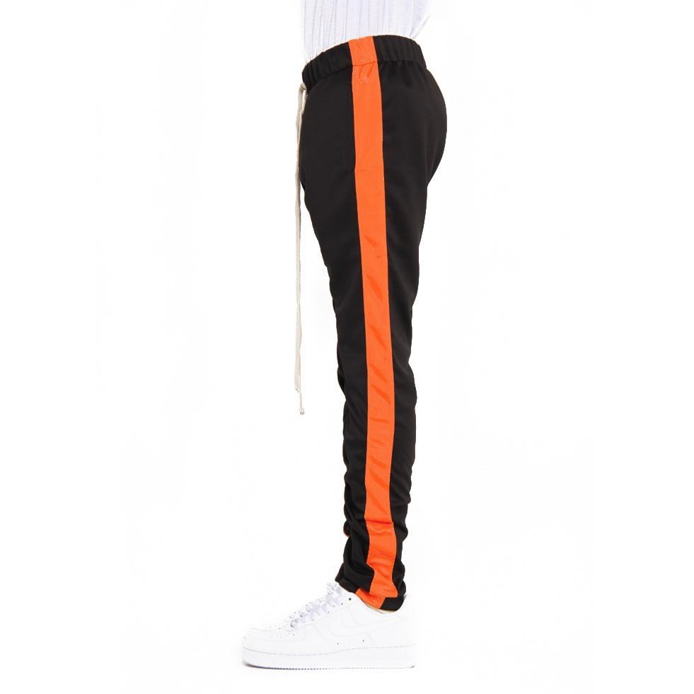 EPTM Black Track Pants w/Orange Stripe