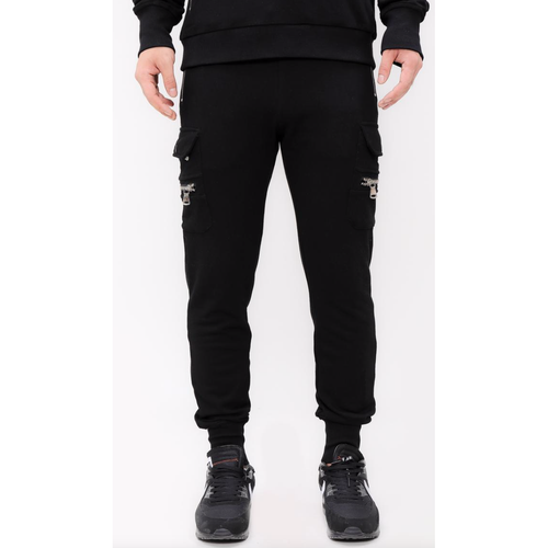 HUDSON BLACK CARGO POCKET JOGGERS