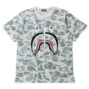 BAPE Space Camo Shark Tee - White Multi