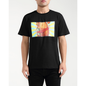 "Hudson ""Cash Strapped"" Black Tee"